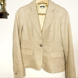 ▫️J.crew▫️ gold wool blazer